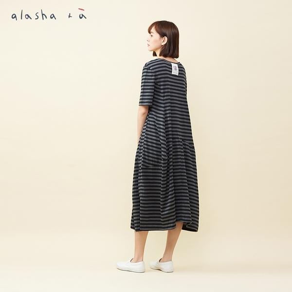 a la sha +a 設計感大拋份剪接洋裝
