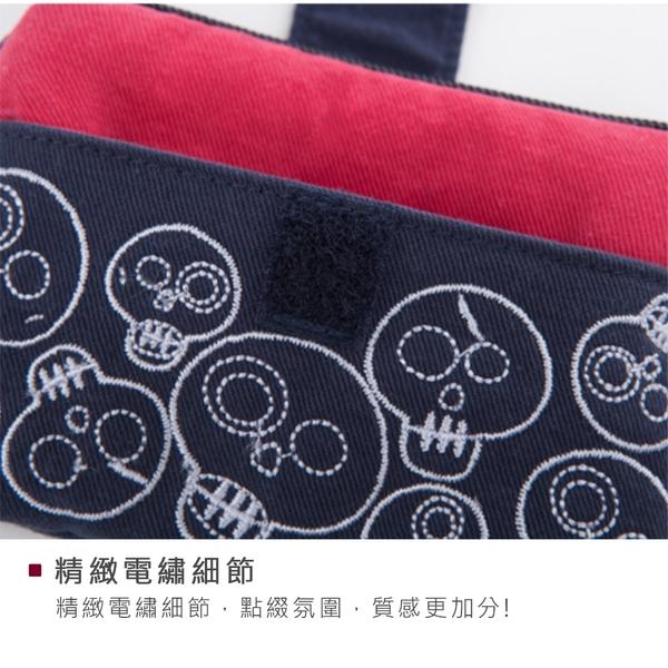 Kiro貓 小惡魔 刺繡 拉鍊 零錢包/卡片小物包/耳機收納包【221362】