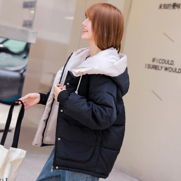 羽絨外套 羽絨棉服女短款冬季韓版大碼面包服棉襖寬鬆加厚棉衣外套【快速出貨】