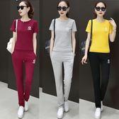 運動套裝女士韓版時尚2018夏裝新款寬鬆休閒短袖兩件套潮 DN11419【大尺碼女王】