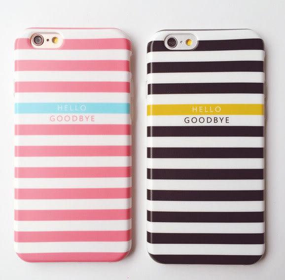 [24hr 火速出貨] 蘋果 手機殼 磨砂 蘋果 iphone6 6s plus 保護套 簡約風 條紋 矽膠 全包 防摔