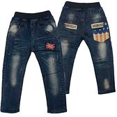 牛仔褲 加絨拼布 男童牛仔長褲 加厚兒童長褲 保暖童裝 MS158279 好娃娃