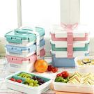 ・組合式三層餐盒組・日常便當、野餐皆方便・材質安全,無雙酚A・貼心手提把設計・韓國製造