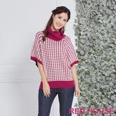 RED HOUSE 蕾赫斯-千鳥格高領針織衫(共2色)