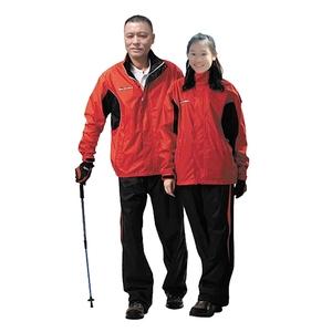 金德恩 達新牌 彩仕型二件式休閒套裝雨衣M~3XL/紅衣黑褲紅衣黑褲M