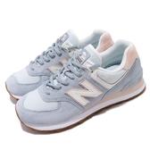 New Balance 休閒鞋 574 NB 藍 粉紅 女鞋 麂皮鞋面 復古慢跑鞋 運動鞋【ACS】 WL574SUOB