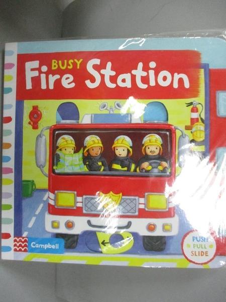 【書寶二手書T1/少年童書_LPU】Busy Fire Station_Rebecca FINN