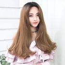 中長假髮韓系中分挑染假髮女長直髮蓬鬆自然...