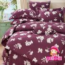 【貝淇小舖】 100%萊賽爾天絲 特大雙人6x7尺 鋪棉兩用被床包組 附正天絲吊卡 韻香-紫