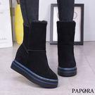 可反摺內絨面短靴KY820黑(偏小)