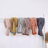 男童圍巾休閒百搭針織格子韓版保暖毛線圍脖冬款【奇妙商舖】