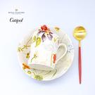 葡萄牙Cutipol紅金點心匙+英國RS花草系列麥片碗+馬克杯-3入一組-原廠盒裝