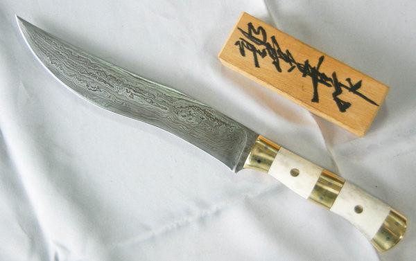 郭常喜的興達刀鋪-鹿角藝術獵刀(A0305)銅+鹿角刀柄