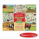 【美國瑪莉莎Melissa & Doug】貼紙簿 - 可重複貼 - 農場 #MD30501