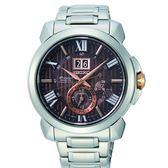 SEIKO Premier 新廣告款人動電能自動追時萬年曆腕錶7D56-0AE0R (SNP157J1)咖啡