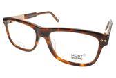 MONTBLANC 光學眼鏡 MB618F 055 (琥珀棕-金) 經典百搭款 平光鏡框 #金橘眼鏡