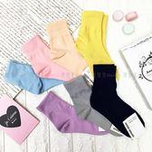 【KP】韓國 22-26cm 素色 粉嫩 流行 藍 粉 膚 黃 紫 灰 深藍 成人襪 襪子 DTT10000697