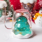 ﹝聖誕樹星願雙層玻璃杯300ml﹞正版 玻璃杯 水杯 聖誕 耶誕 交換禮物〖LifeTime一生流行館〗