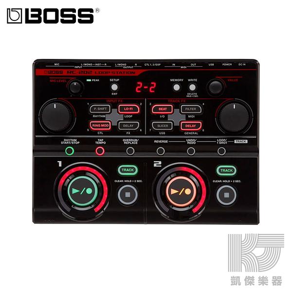 【凱傑樂器】Boss RC-202 Loop Station 桌上型 效果器 looper