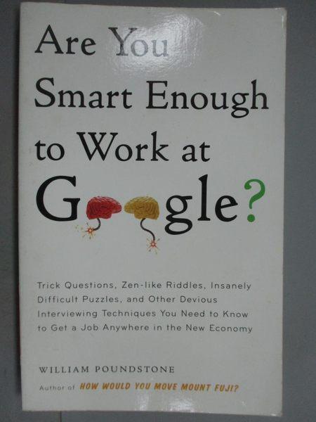【書寶二手書T3/財經企管_KLH】Are You Smart Enough To Work At Google?_Wi