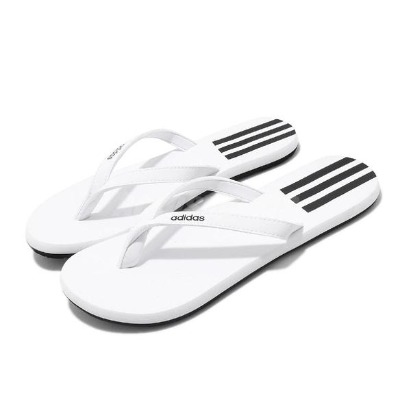 adidas 拖鞋 Eezay Flip Flop 白 黑 女鞋 人字拖 夾腳拖 【ACS】 EG2038