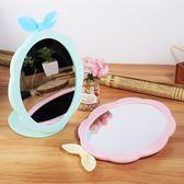 臺式單面鏡簡約高清梳妝鏡創意可愛小鏡子便攜橢圓化妝美容公主鏡 sxx2448 【雅居屋】