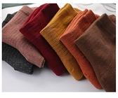 《花花創意会社》外流。純色日系簡約中筒襪棉質百搭休閒 6色可選【H7093】