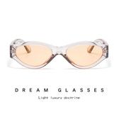 透明小框太陽鏡 個性炫彩橢圓墨鏡 太陽眼鏡【五巷六號】y34