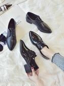 英倫風ins小皮鞋女學生秋季新款韓版百搭單鞋粗跟女鞋 交換禮物