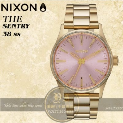 NIXON 實體店THE SENTRY 38 SS潮流腕錶A450-2360公司貨/極限運動/潮流/禮物/情人節