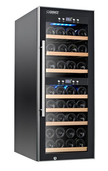 紅酒櫃【德國CASO】 酒櫃 雙溫控酒櫃 儲酒櫃【38瓶 酒櫃】型號:WineComfort 38 (SW-38)