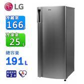 LG SMART 191公升變頻單門冰箱/ 精緻銀 GN-Y200SV~含拆箱定位