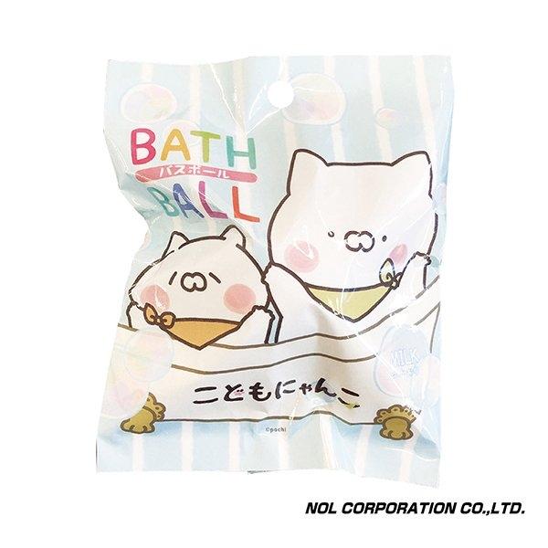 日本NOL 小貓(Line貼圖)入浴球(隨機出貨)[衛立兒生活館]
