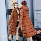 連帽外套 棉襖女好康推薦新款反季棉服冬季外套女羽絨棉加厚冬裝長版棉衣長過膝