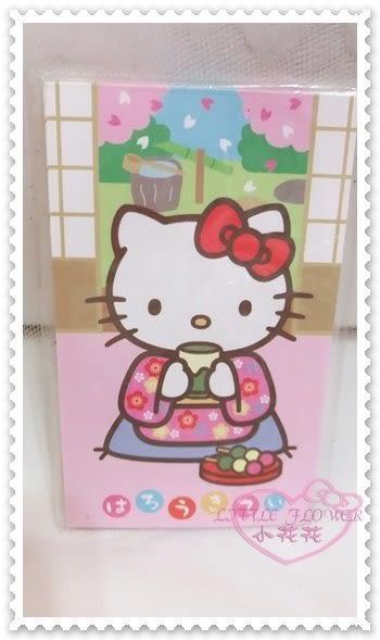 ♥小花花日本精品♥ Hello Kitty 紅包袋過年必備新年必備坐姿喝茶和服櫻花蝴蝶結8枚入粉色 60236104