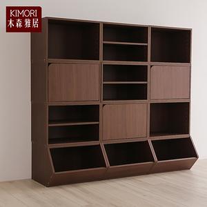 【木森雅居】KIMORI S-Cabinet可堆疊層板櫃/收納櫃淺胡桃木色款