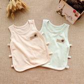 夏裝嬰兒背心純棉網眼男女寶寶無袖T恤新生兒衣服夏季童裝