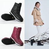雪靴 2018冬季新款雪地靴女媽媽棉鞋保暖防水防滑平底男靴加絨加厚短靴
