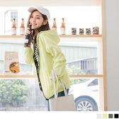 OB嚴選《EA1539-》素面X迷彩連帽兩面穿防風拉鍊外套.4色--適 S~L
