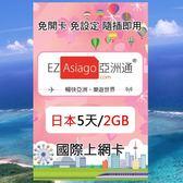 【亞洲通】日本5天(2GB)上網卡(軟銀/高速/即插即用/免設定)