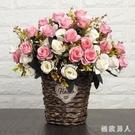 唯美仿真擺設家居裝飾盆花仿真花客廳餐桌上的擺件仿真花裝飾擺件 LJ447【極致男人】
