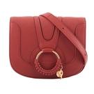 【SEE BY CHLOE】HANA bag 小型皮革斜背包(橘紅色) CHS17SS896305644