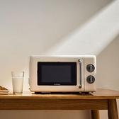 烤箱 圈廚微波爐家用小型迷你宿舍微波爐老人用機械式轉盤復古光波爐