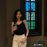 韓風Chic氣質V領修身針織小吊帶女夏外穿簡約百搭純色背心   東川崎町