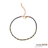 J'code真愛密碼 黃金/尖晶石手鍊-單鍊款
