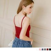 《FA1359》多色小花邊細肩帶彈性織紋背心.6色 OrangeBear