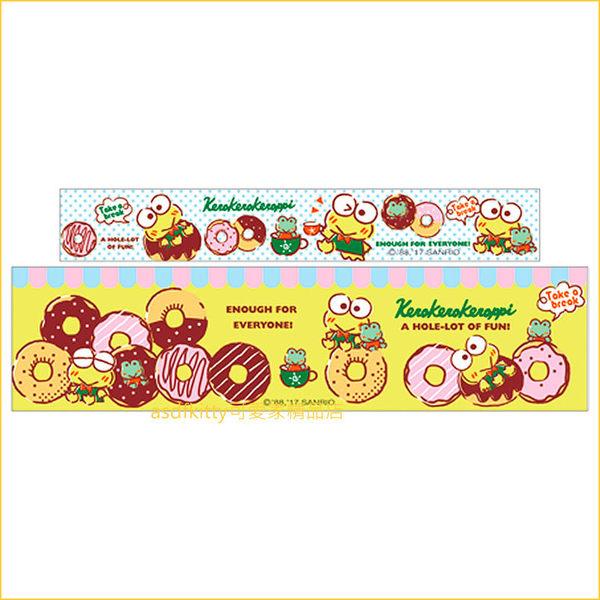 asdfkitty可愛家☆大眼蛙紙膠帶附造型收納座-膠帶用完可替換成自己喜歡的膠帶-日本正版商品