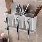 聖誕回饋 廚房筷子籠家用筷子架瀝水餐具置物架筷子筒掛式筷籠筷子收納架