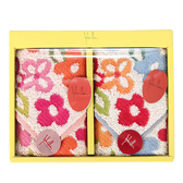 Sybilla 可愛花卉二入方巾禮盒989241