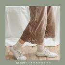 褲子  森林系蕾絲刺繡有內裏棉麻七分褲.襯褲   五色-小C館日系